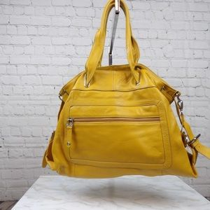 Barr & Barr Sunflower yellow leather convertible